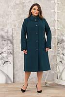 Пальто женское кашемировое -Л-614 зел