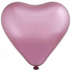 """Сердце 12"""" EVERTS-ЭВ хром 853 розовый"""