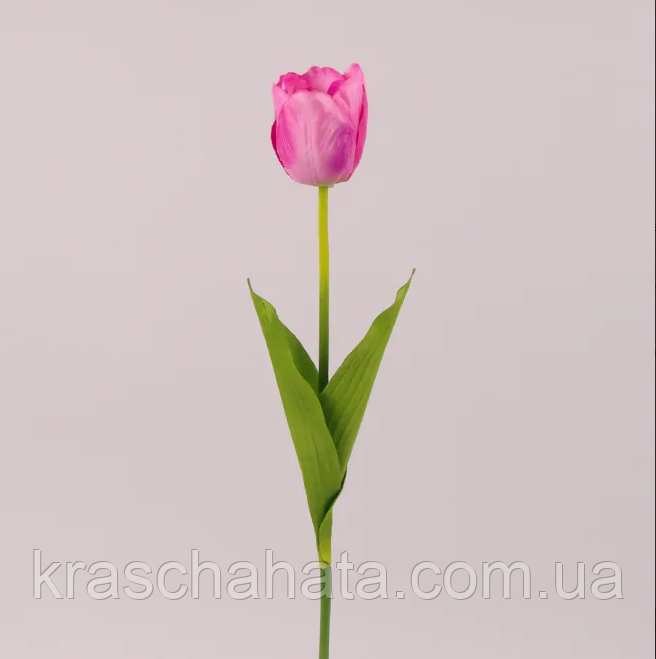Штучний квітка Тюльпан рожево-бузковий, H 60см, Штучні квіти, Дніпро
