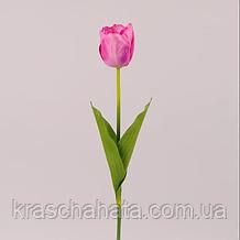 Цветок искусственный, Тюльпан розово-сиреневый, H 60см, Искусственные цветы, Днепр
