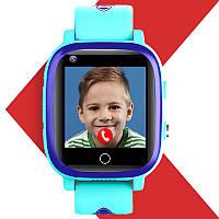 Детские умные часы с GPS JETIX T-Watch 2 с датчиком измерения температуры и 4G видеозвонком (Blue)