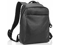 Рюкзак кожаный черный Tiding Bag, фото 1