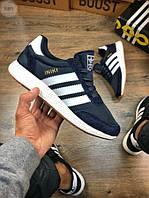 Чоловічі кросівки Adidas iniki / blue, фото 1