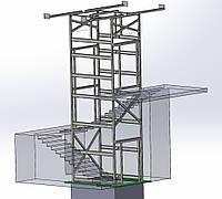 Проектирование Лифтовых шахт Strimex из сборного металлокаркаса