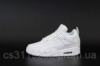 Женские кроссовки Air Jordan 4  RETRO HIGH (белые)