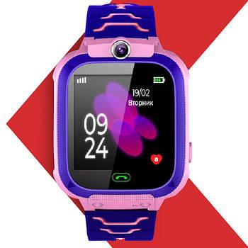 Детские умные часы JETIX DF22 LBS с влагозащитой, камерой и фонариком (Pink)
