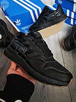 Чоловічі кросівки Adidas ZX 500 RM Total Black, фото 1