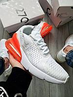Чоловічі кросівки Nike Air Max 270 Flyknit White/Orange, фото 1