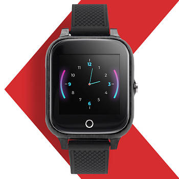 Детские умные часы JETIX T-Watch с термометром, прослушкой, виброзвонком и GPS трекером (Black)