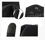 Рукавички демисезон чоловічі підліткові сенсорні спорт чорні розмір S, фото 3