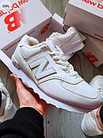 ЗИМА!!! Чоловічі кросівки New Balance 574 White Winter, фото 1