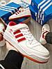 Чоловічі кросівки Adidas forum mіd White/Red