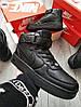 ЗИМА! Чоловічі кросівки Air Force Hight Total Black Winter