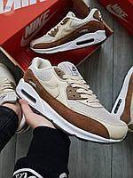Чоловічі кросівки Nike Air Max 90 Beige/Brown, фото 1