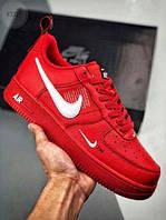 Чоловічі кросівки Nike Air Force Low Red, фото 1