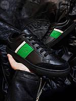 Чоловіча фірмове взуття Lacoste Black/Green, фото 1