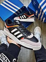 Чоловічі кросівки Adidas Drop Step Black/White/Grey, фото 1