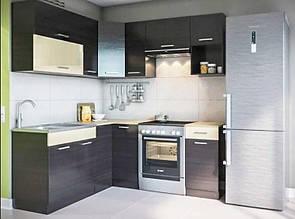 Кутова кухня АЛІНА 1700х1900 мм (венге) КИЇВ