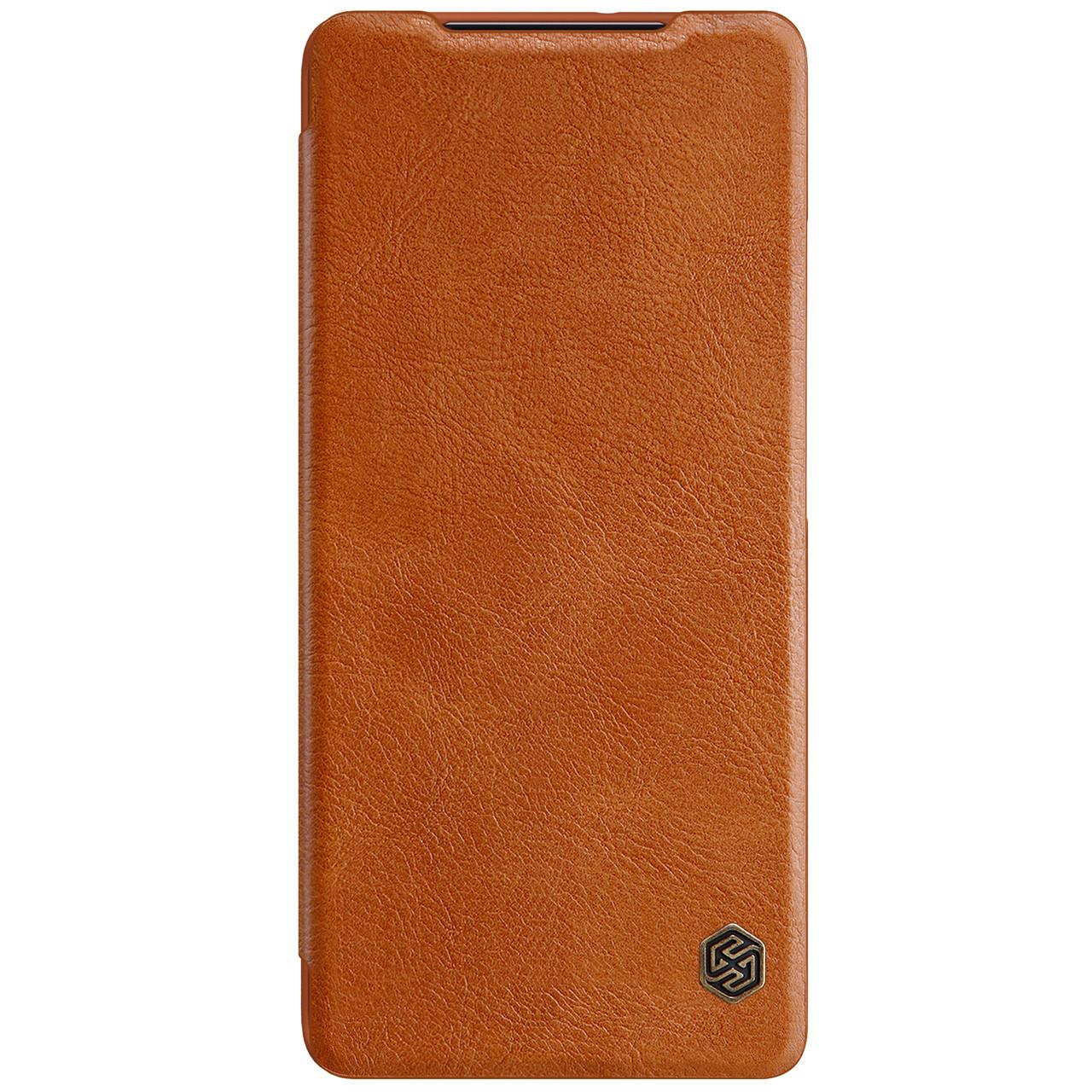 Захисний чохол-книжка Nillkin для Samsung Galaxy S21 Ultra Qin leather case Brown Коричневий