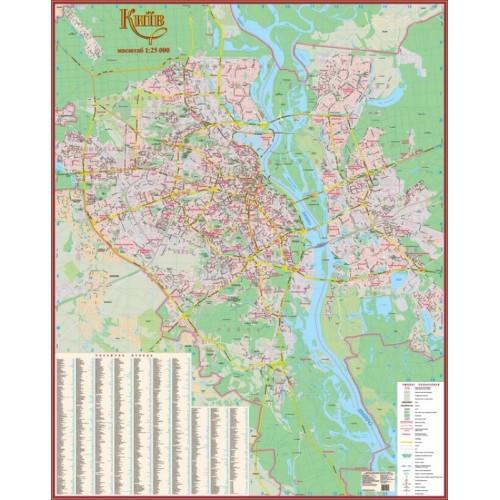 Київ. План міста, масштаб 1:25 000 (на картоні, на планках)
