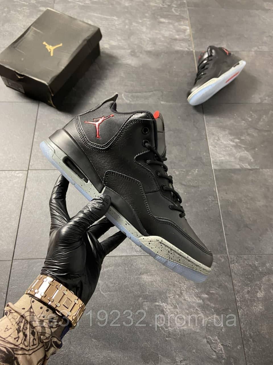 Мужские кроссовки Air Jordan 4 Black  (черные)