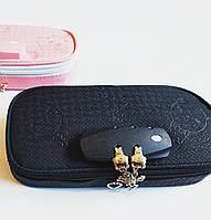 Школьный пенал коробка с паролем на молнии черный с кодовым замком без наполнения детский унисекс