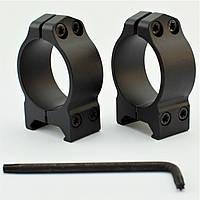 Кольца стальные Warne Fixed Ring 30мм Low низкие