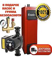 Твердотопливный котел длительного горения Amica Time 40 кВт с автоматикой и вентилятором