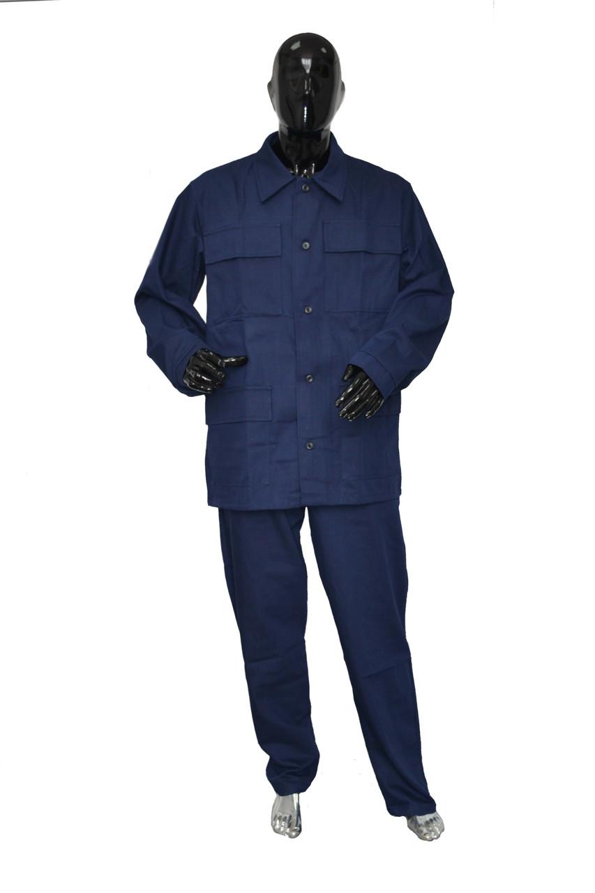 Костюм рабочий (куртка + штаны). Синий. Спецодежда