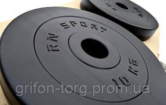 67 кг (2х1.25, 2х2.5, 2x5, 2х10 и 2x15) дисков, покрытых пластиком (31 мм), фото 3