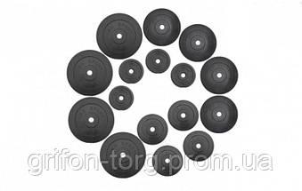75 кг (4 по 10, 4 по 5, 4 по 2.5, 4 по 1.25) блинов на штангу покрытых пластиком (31 мм), фото 3