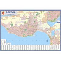 Одеса. План міста, масштаб 1:18 500 (на картоні, на планках)