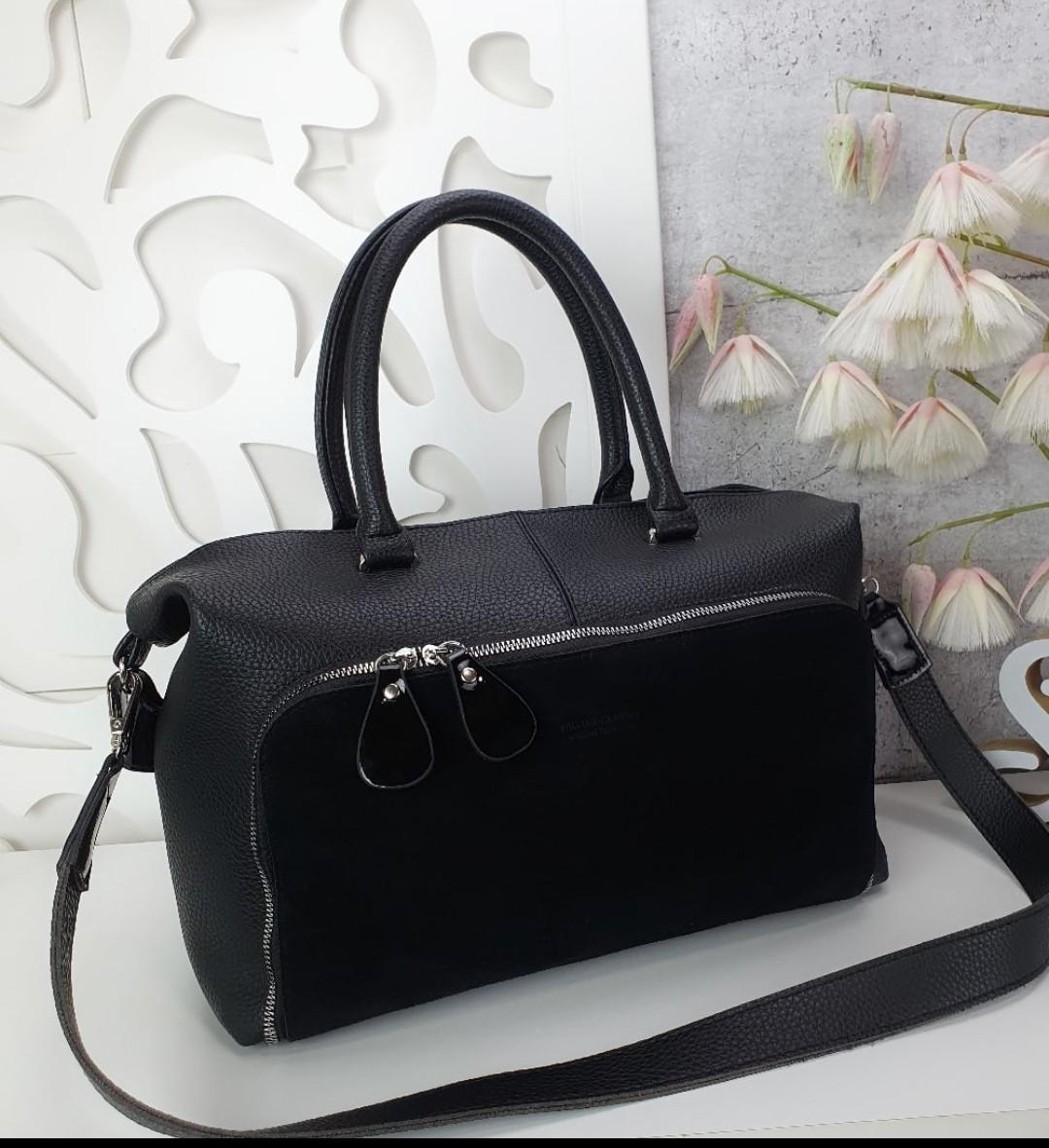 Женская черная большая сумка