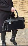 Женская черная большая сумка, фото 3