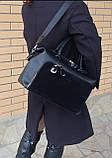 Женская черная большая сумка, фото 4
