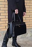Женская черная большая сумка, фото 5
