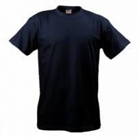 Темно-синяя футболка мужская однотонная B&C Collection