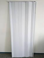 Дверь белая гармошка глухая 822, 810*2030*6 мм, фото 1