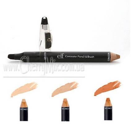 БЕСПЛАТНО ПРИ ЗАКАЗЕ ОТ 500 грн. Консилеры - карандаши с кистью e.l.f. Studio Concealer Pencil & Brush, фото 2