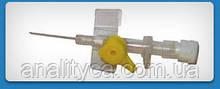 Катетер(канюля) внутрішньовенний ULTRAFLON c ін'єкційним портом, стерильний, 24G, 100 шт/упак.