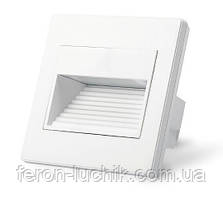 Світлодіодний світильник для підсвічування сходів, сходів Feron JD13 1W 3000К квадратний