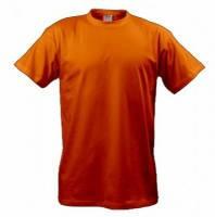 Однотонные оранжевые футболки мужские хлопковые