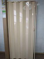 Дверь гармошка глухая Сосна №2 раздвижная пластиковая1000*2030*6 мм