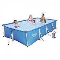 Каркасный бассейн Bestway 56424, 400х211х81 см (фильтр-насос), фото 1
