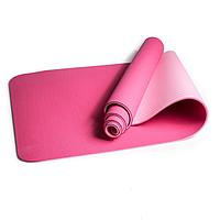 Коврик для йоги и фитнеса 173 х 64 см Розовый