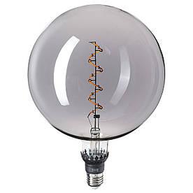 IKEA ROLLSBO Світлодіодна лампа 200 люмен E27 з регульованою яскравістю / сіре прозоре скло (004.885.76)