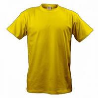 Летняя мужская футболка жёлтого цвета с коротким рукавом