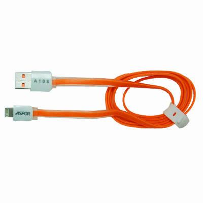USB кабель Aspor с разъемом Lightning 1 м. А108, фото 2