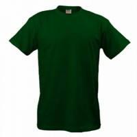 Темно-зеленые футболки мужская однотонная из хлопка B&C