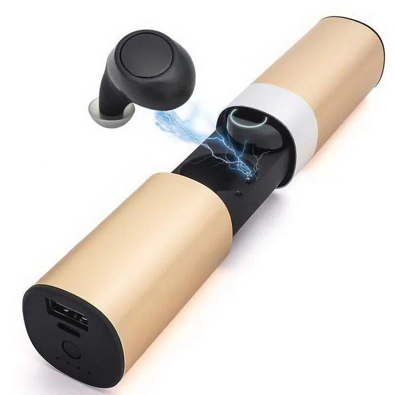 Беспроводные Bluetooth наушники TWS-S2 с боксом для зарядки, (Золотой)